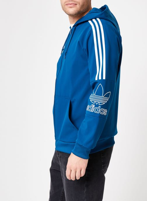 Kleding adidas originals Outline Fz Hood Blauw rechts