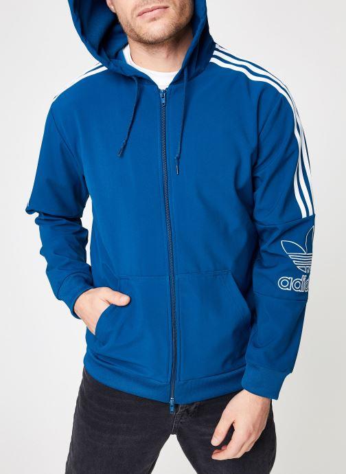 Kleding adidas originals Outline Fz Hood Blauw detail