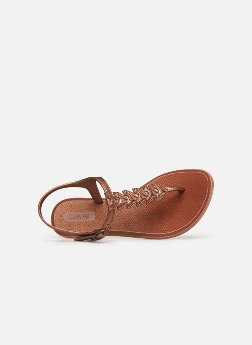 Sandalen Grendha Glamorous Sandal Goud en brons links