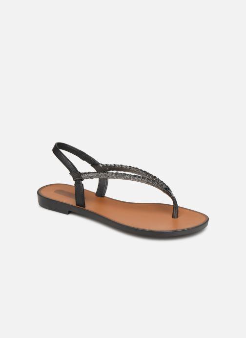 Sandalen Grendha Acai Tropicalia Sandal Zwart detail