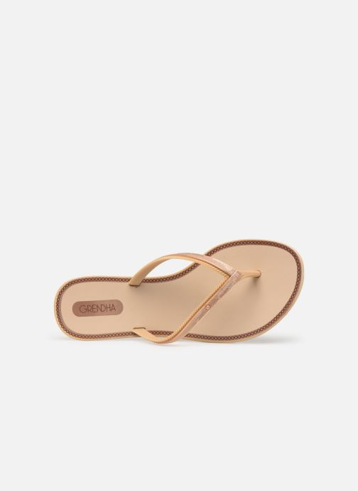 Flip flops Grendha Sol Thong Beige view from the left