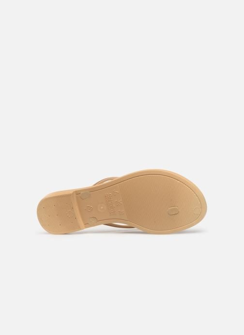 Flip flops Grendha Sol Thong Beige view from above