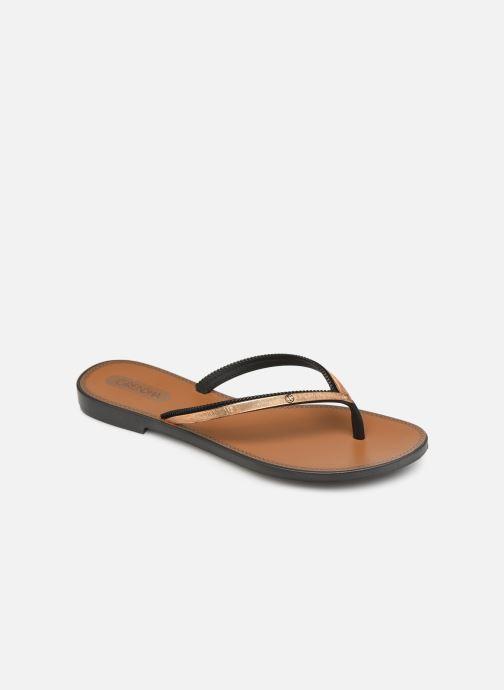 Slippers Grendha Sol Thong Zwart detail