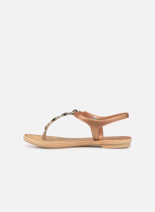Sandales et nu-pieds Grendha Chains Sandal Or et bronze vue face