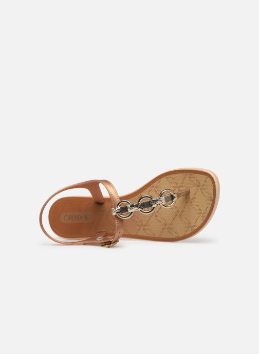 Sandalen Grendha Chains Sandal Goud en brons links