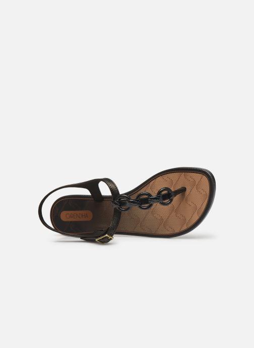 Sandalias Grendha Chains Sandal Negro vista lateral izquierda
