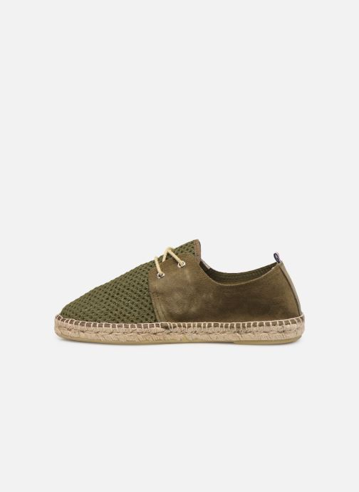 Espadrilles 1789 CALA Riviera Mix Leather M-C Green front view