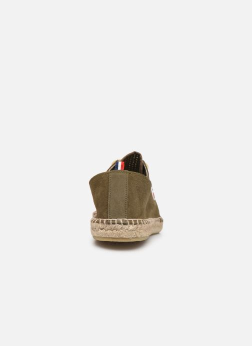 Espadrilles 1789 CALA Riviera Mix Leather M-C Green view from the right