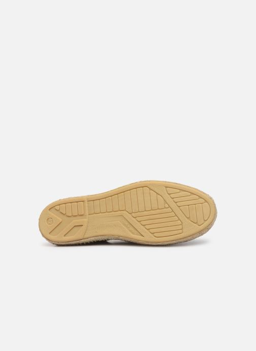 Espadrilles 1789 CALA Riviera Mix Leather M-C Green view from above