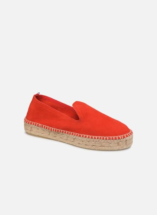 Espadrilles 1789 CALA Slip On Double Leather-C Rouge vue détail/paire