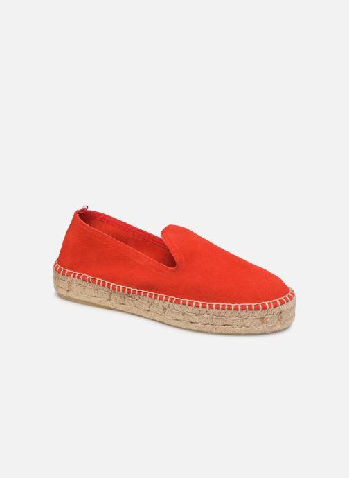 Espadrilles 1789 CALA Slip On Double Leather-C Rouge vue détail/paire