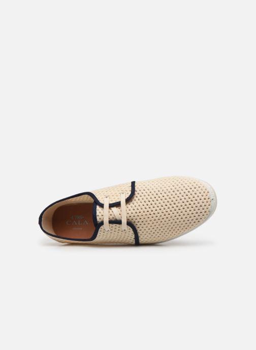 Zapatos con cordones 1789 CALA Riva Ppheritage Beige vista lateral izquierda