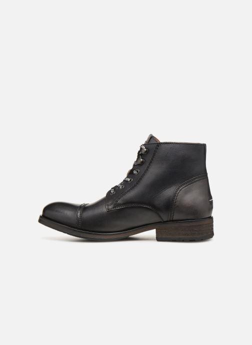 Stiefeletten & Boots Tommy Hilfiger Dressy Leather Lace Up Boot schwarz ansicht von vorne