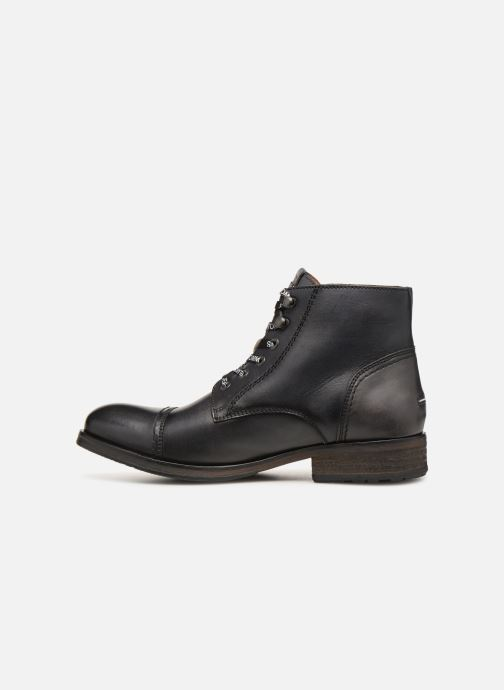 Stivaletti e tronchetti Tommy Hilfiger Dressy Leather Lace Up Boot Nero immagine frontale