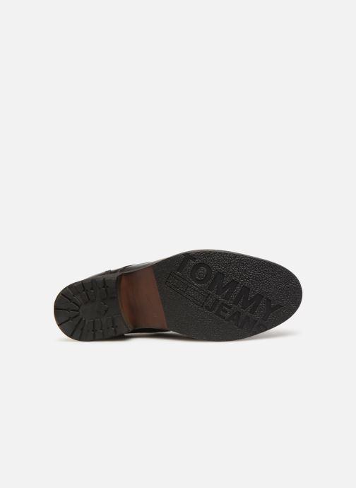 Stiefeletten & Boots Tommy Hilfiger Dressy Leather Lace Up Boot schwarz ansicht von oben