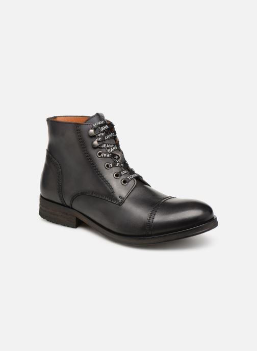 Boots en enkellaarsjes Tommy Hilfiger Dressy Leather Lace Up Boot Zwart detail
