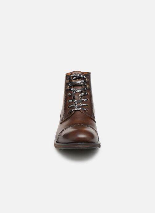 Stiefeletten & Boots Tommy Hilfiger Dressy Leather Lace Up Boot braun schuhe getragen