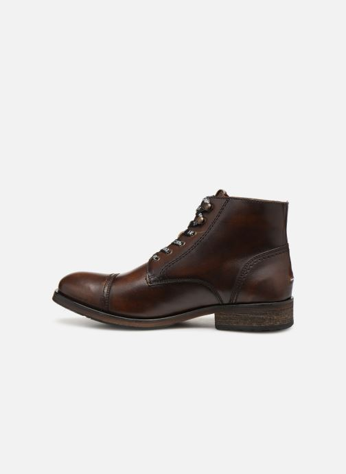 Bottines et boots Tommy Hilfiger Dressy Leather Lace Up Boot Marron vue face