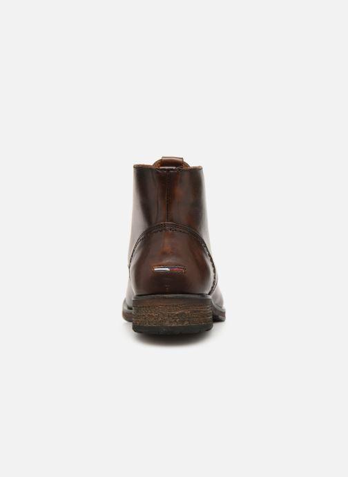 Bottines et boots Tommy Hilfiger Dressy Leather Lace Up Boot Marron vue droite