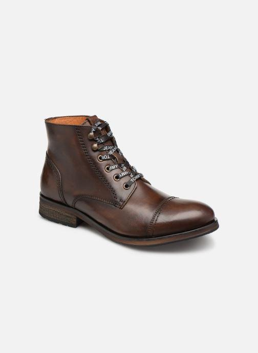 Bottines et boots Tommy Hilfiger Dressy Leather Lace Up Boot Marron vue détail/paire