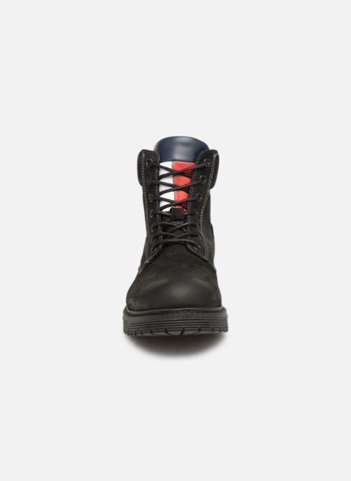 Stiefeletten & Boots Tommy Hilfiger Iconic Tommy Jeans Nubuck Boot schwarz schuhe getragen