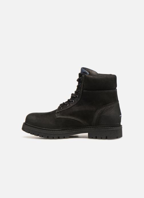 Botines  Tommy Hilfiger Iconic Tommy Jeans Nubuck Boot Negro vista de frente