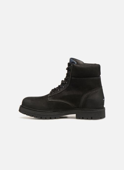 Boots en enkellaarsjes Tommy Hilfiger Iconic Tommy Jeans Nubuck Boot Zwart voorkant