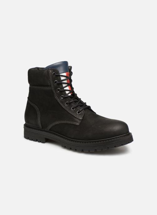 Bottines et boots Tommy Hilfiger Iconic Tommy Jeans Nubuck Boot Noir vue détail/paire
