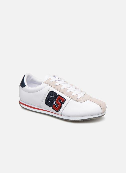 Baskets Tommy Hilfiger TJ85 Retro Flag Sneaker Blanc vue détail/paire