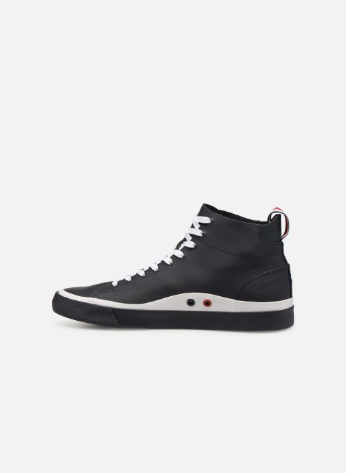 Baskets Tommy Hilfiger Unlined Mid Cut Leather Sneaker Noir vue face