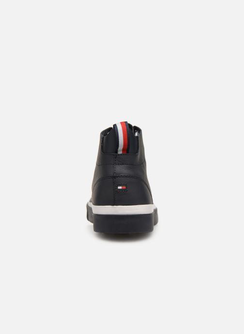 Baskets Tommy Hilfiger Unlined Mid Cut Leather Sneaker Noir vue droite