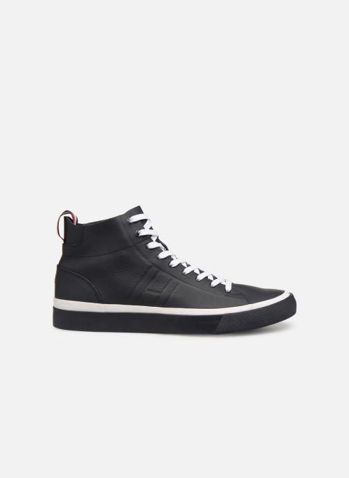 Baskets Tommy Hilfiger Unlined Mid Cut Leather Sneaker Noir vue derrière