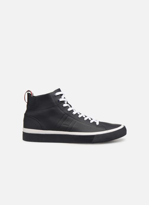 Sneakers Tommy Hilfiger Unlined Mid Cut Leather Sneaker Nero immagine posteriore