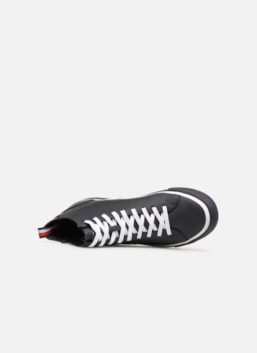 Baskets Tommy Hilfiger Unlined Mid Cut Leather Sneaker Noir vue gauche