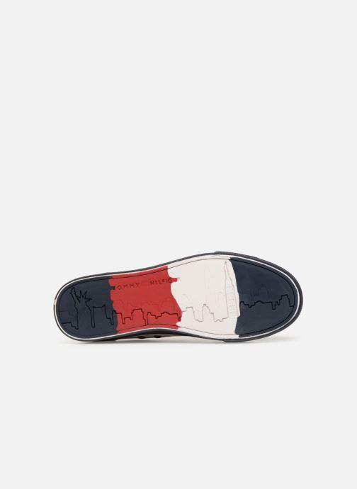 Baskets Tommy Hilfiger Unlined Mid Cut Leather Sneaker Noir vue haut