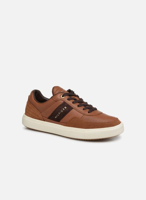 Deportivas Tommy Hilfiger Lightweight material Mix Low Cut Marrón vista de detalle / par