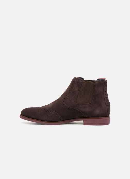 Boots en enkellaarsjes Tommy Hilfiger Dressy Casual Suede Chelsea Bruin voorkant