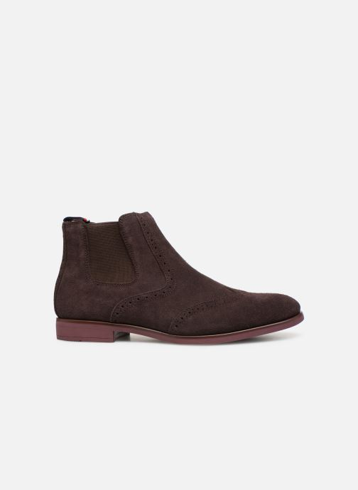 Botines  Tommy Hilfiger Dressy Casual Suede Chelsea Marrón vistra trasera
