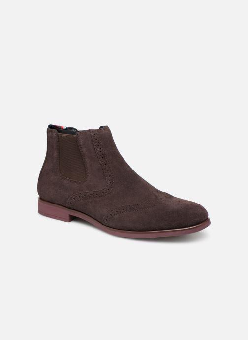 Ankelstøvler Tommy Hilfiger Dressy Casual Suede Chelsea Brun detaljeret billede af skoene
