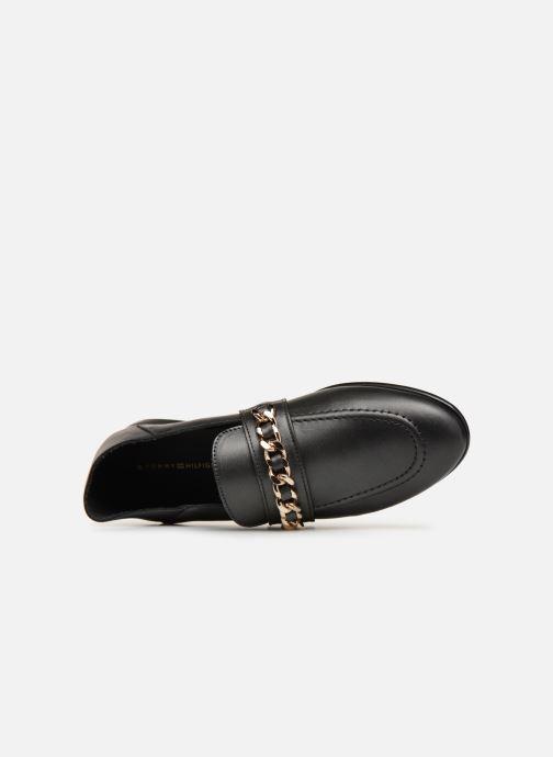 Mocassins Tommy Hilfiger Chain Detail Loafer Noir vue gauche