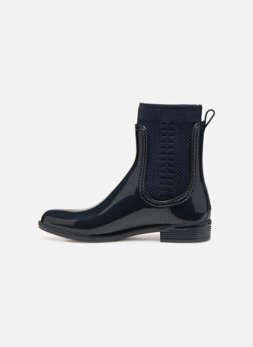 Bottines et boots Tommy Hilfiger Tommy Knit Rain Boot Bleu vue face