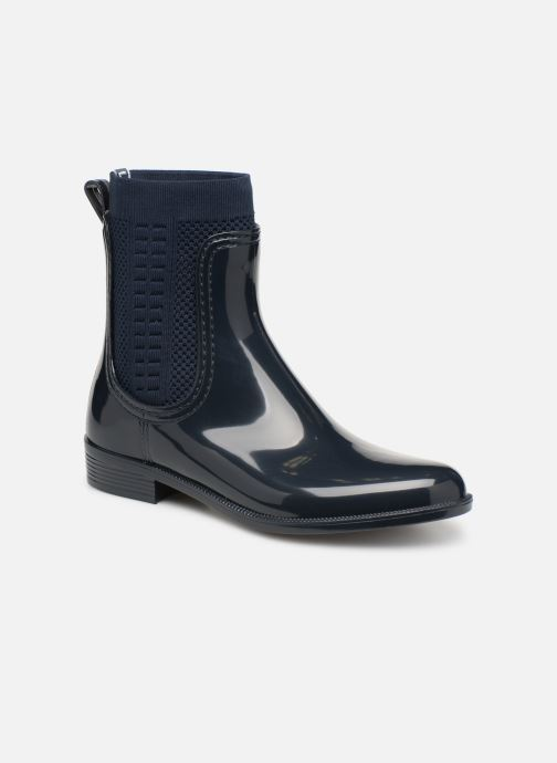 Bottines et boots Tommy Hilfiger Tommy Knit Rain Boot Bleu vue détail/paire