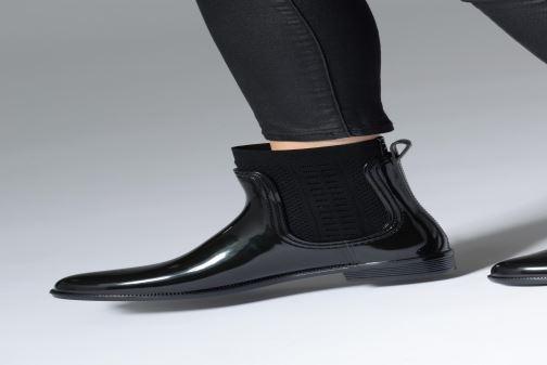 Bottines et boots Tommy Hilfiger Tommy Knit Rain Boot Noir vue bas / vue portée sac
