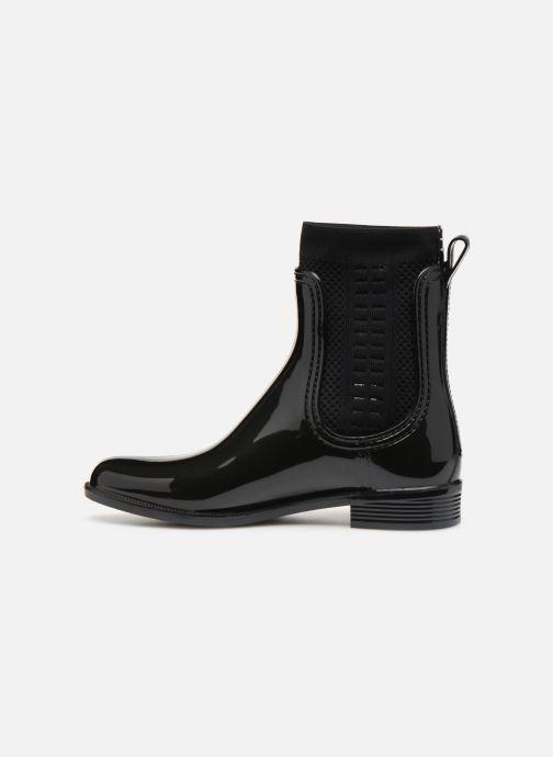 Bottines et boots Tommy Hilfiger Tommy Knit Rain Boot Noir vue face