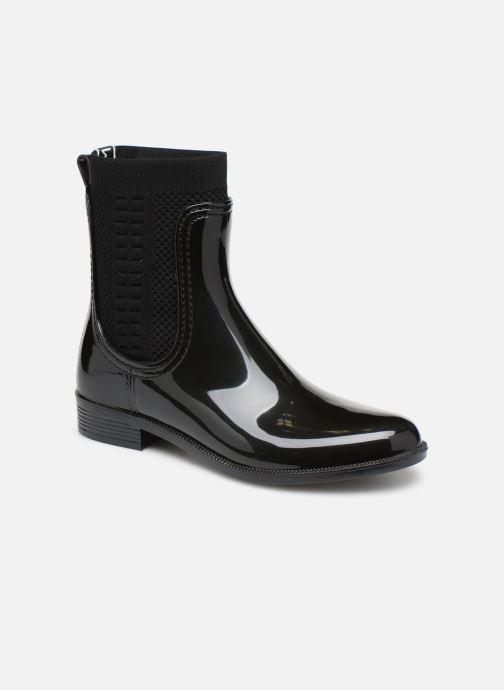 Bottines et boots Tommy Hilfiger Tommy Knit Rain Boot Noir vue détail/paire
