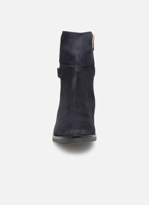 Stiefeletten & Boots Tommy Hilfiger TH Buckle Bootie Stretch blau schuhe getragen
