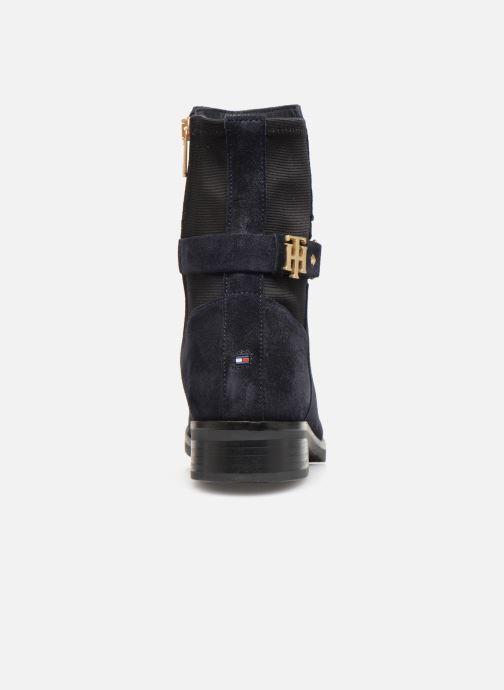 Boots en enkellaarsjes Tommy Hilfiger TH Buckle Bootie Stretch Blauw rechts