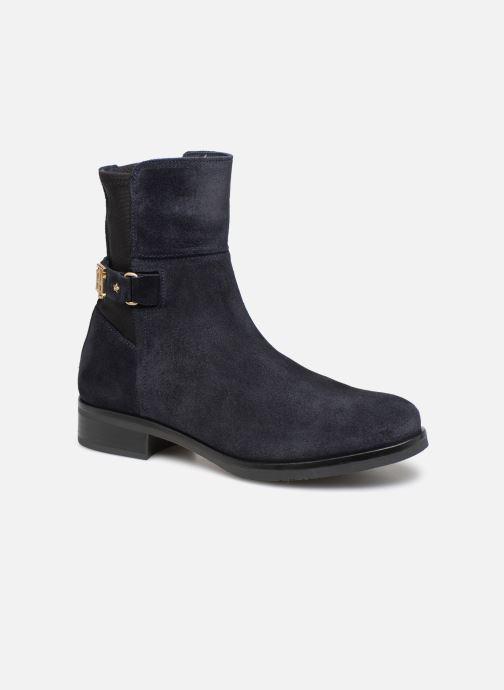 Bottines et boots Tommy Hilfiger TH Buckle Bootie Stretch Bleu vue détail/paire