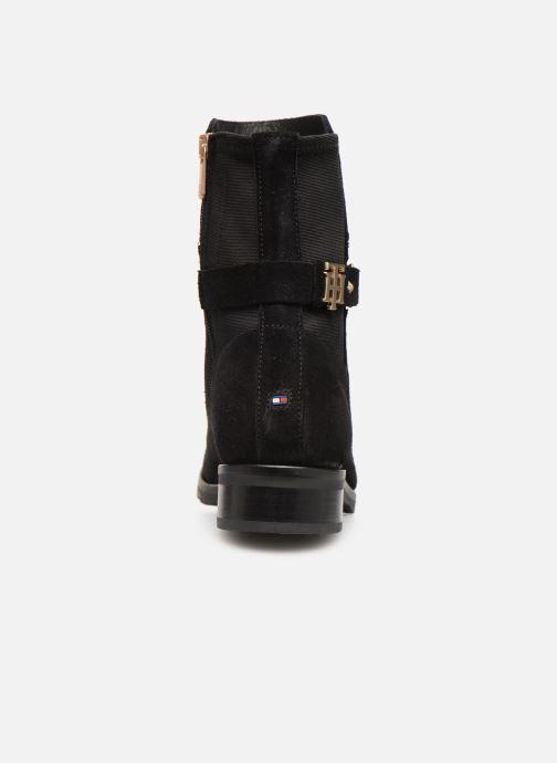 Boots en enkellaarsjes Tommy Hilfiger TH Buckle Bootie Stretch Zwart rechts