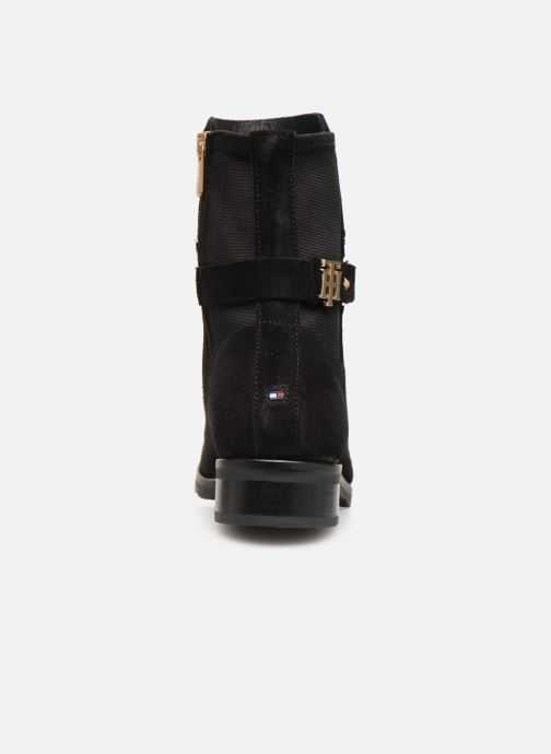 Botines  Tommy Hilfiger TH Buckle Bootie Stretch Negro vista lateral derecha